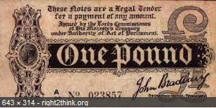 bradbury pound note