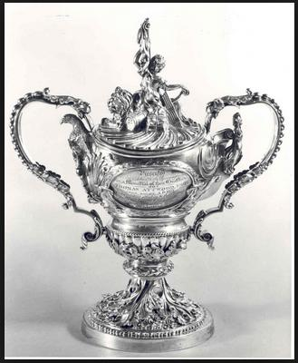 Silver cup made by T.Simpson & Sons and presented to Thomas Attwood