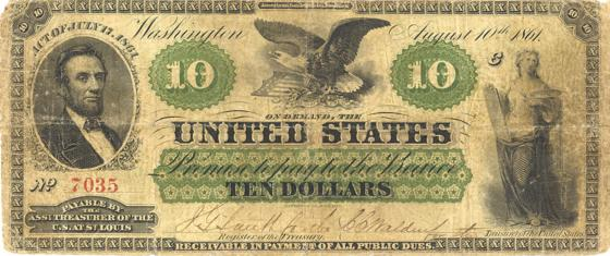 greenbacks Lincon US during civil war